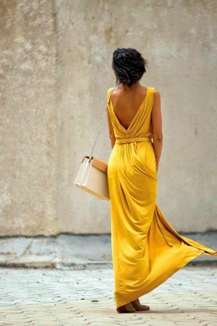Gelbes Kleid  Modische Gelbe Kleider 2016  Lange