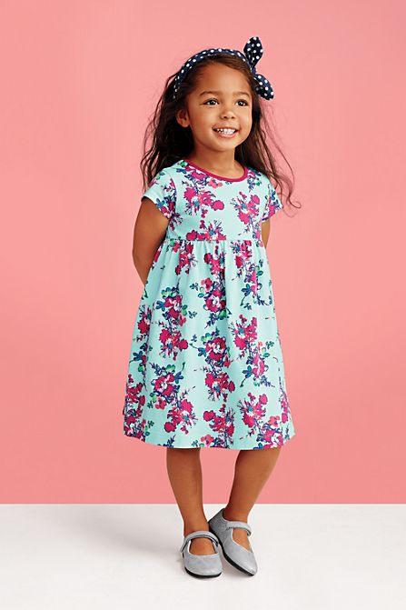 Gemustertes Jerseykleid Für Mädchen  Mädchen Modestil