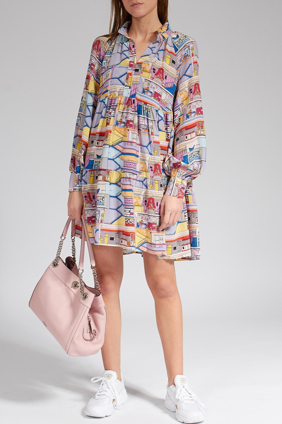 Gemustertes Kleid Aus Seide  Stine Goya  Myclassico