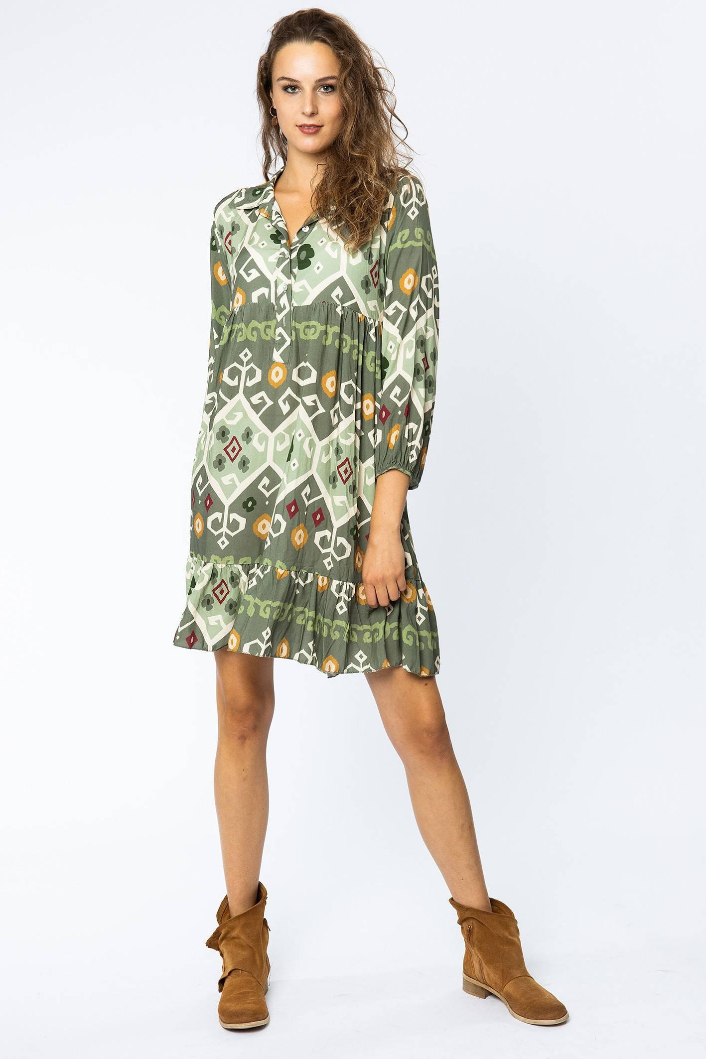 Gemustertes Kleid Im Tunika Style  La Strada