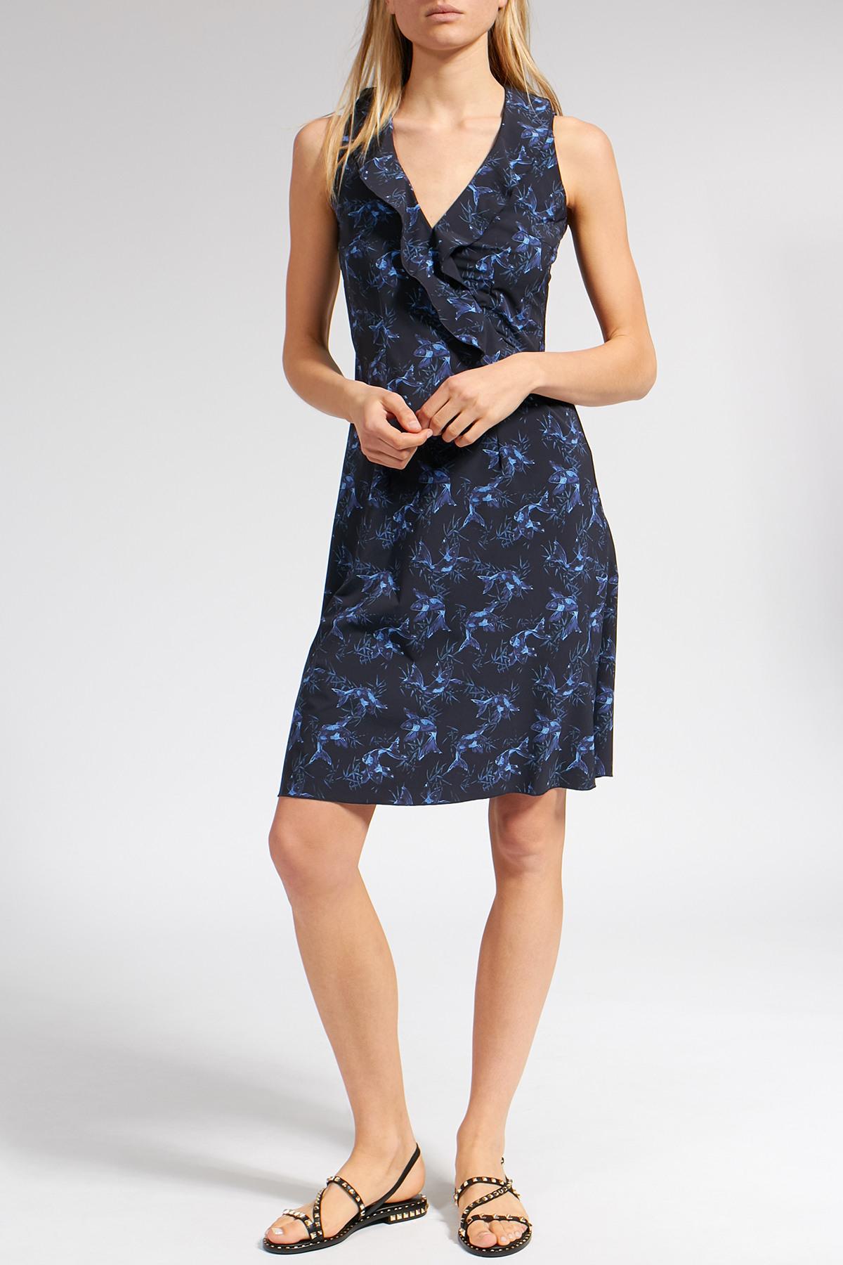 Gemustertes Kleid Mit Volantdetail  Wetines