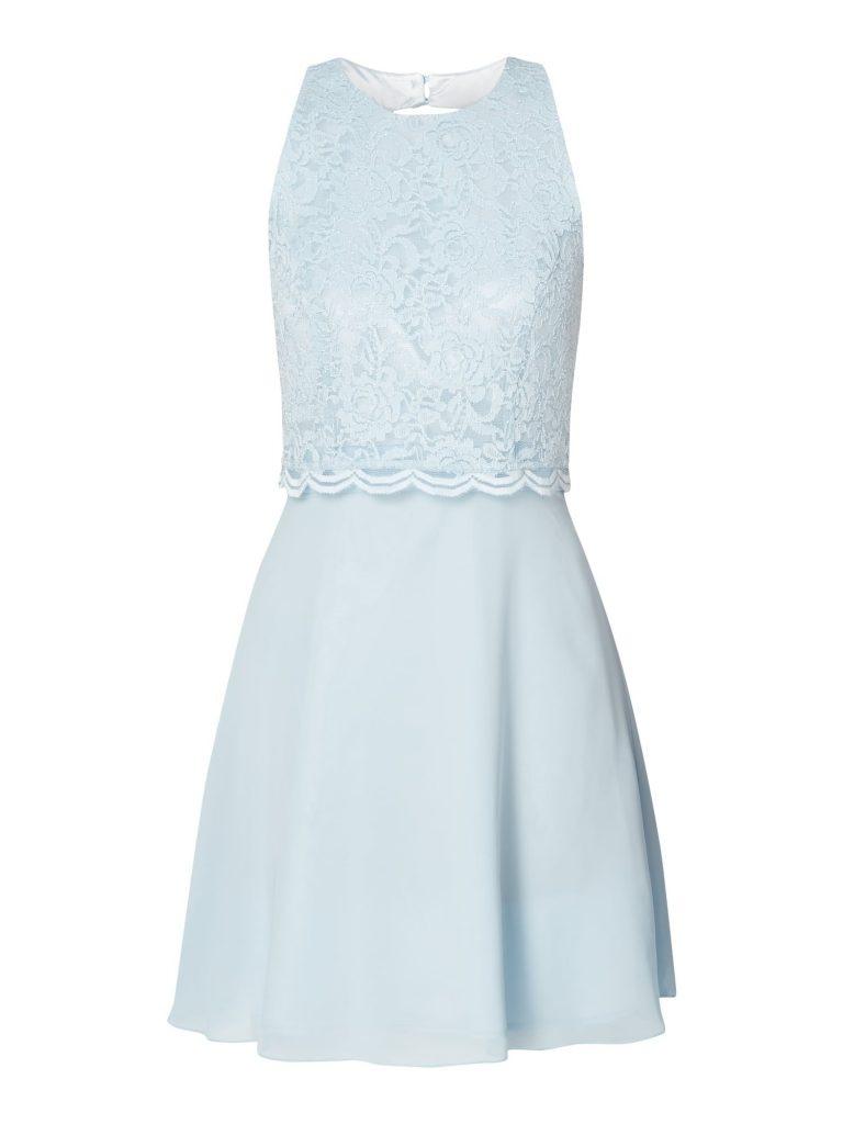 Genial Kleid Spitze Hellblau Galerie  Abendkleid