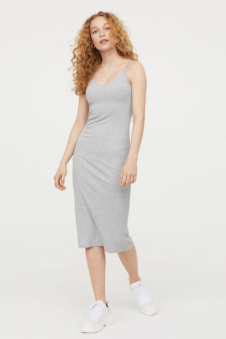 Geripptes Kleid  Graumeliert  Ladies  Hm De  Kleider