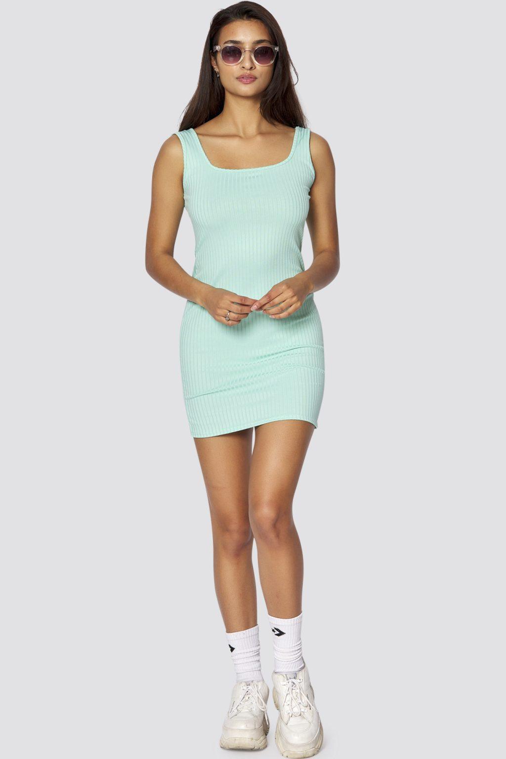 Geripptes Kleid Mona  Frauen Kleider  Freshlions