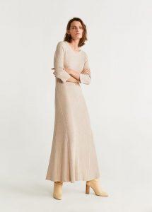 Geripptes Midikleid  Damen  Damen Lange Kleider