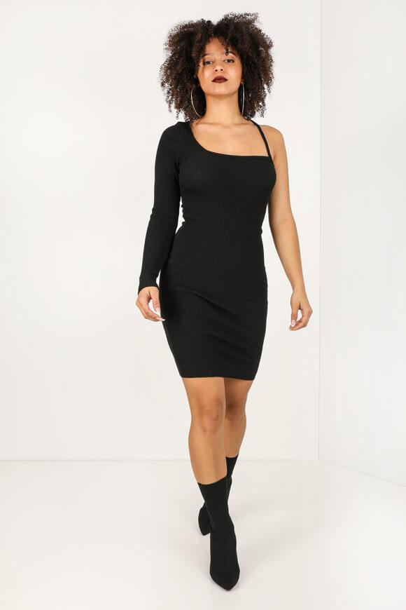 Geripptes One Shoulder Kleid  Glam  Metroboutiquech Online