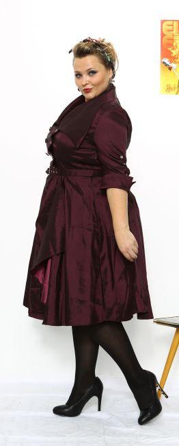 Gerli Lilac  50S Kleid  Weinrot/Lila  Debbysde
