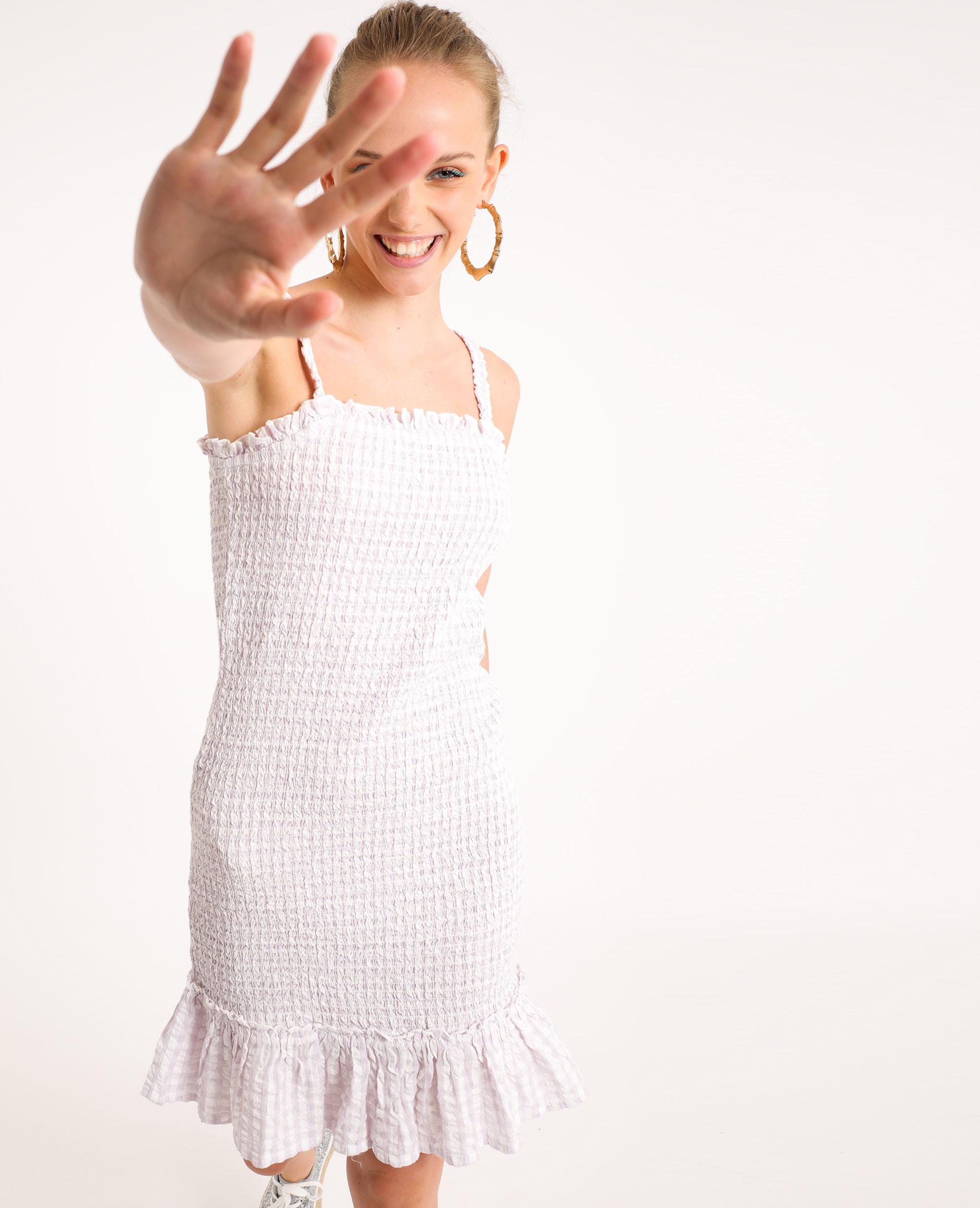 Gesmoktes Kleid Lila  781446417B09  Pimkie