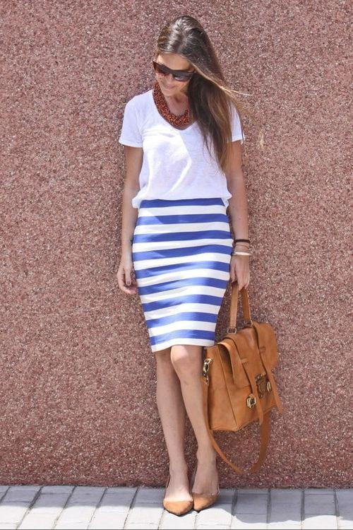 Gestreifte Kleidung Für Frauen Best Street Style  Frauen