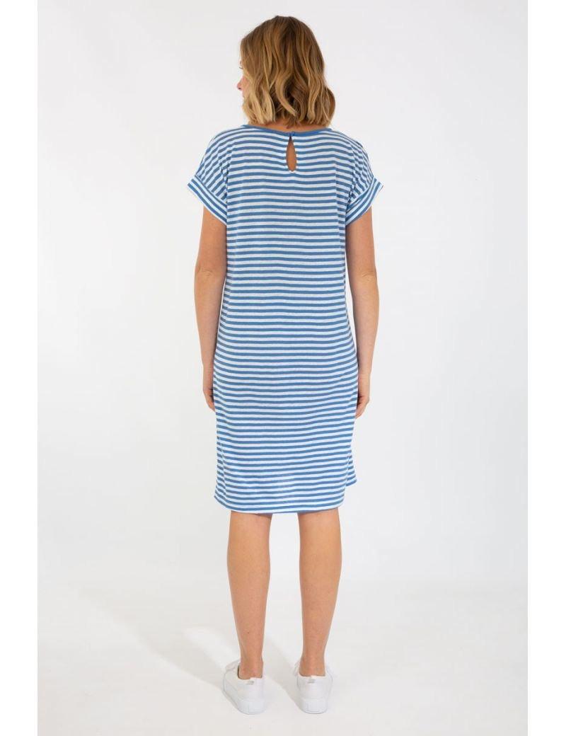 Gestreiftes Kleid  Aus Baumwolle Und Leinen  Armorlux