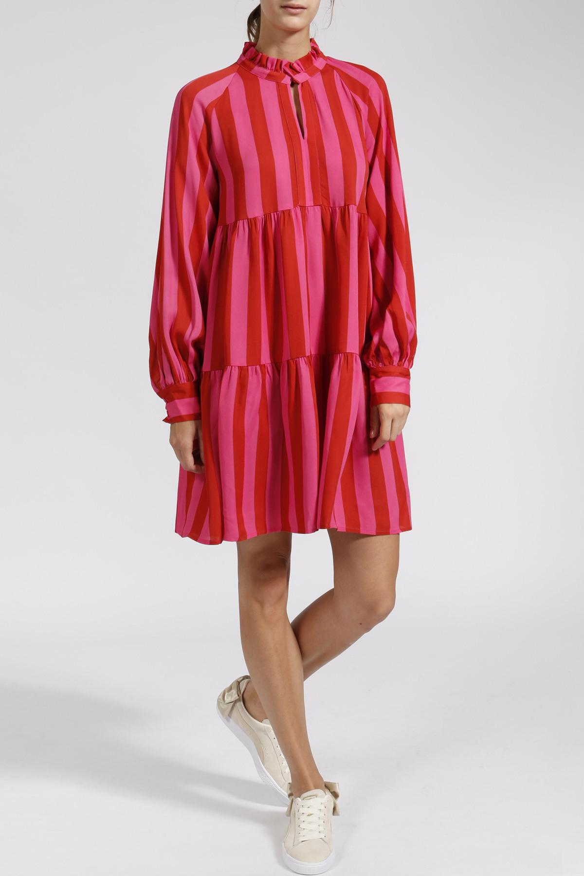 Gestreiftes Kleid Aus Viskose Rot/Pink  Stine Goya