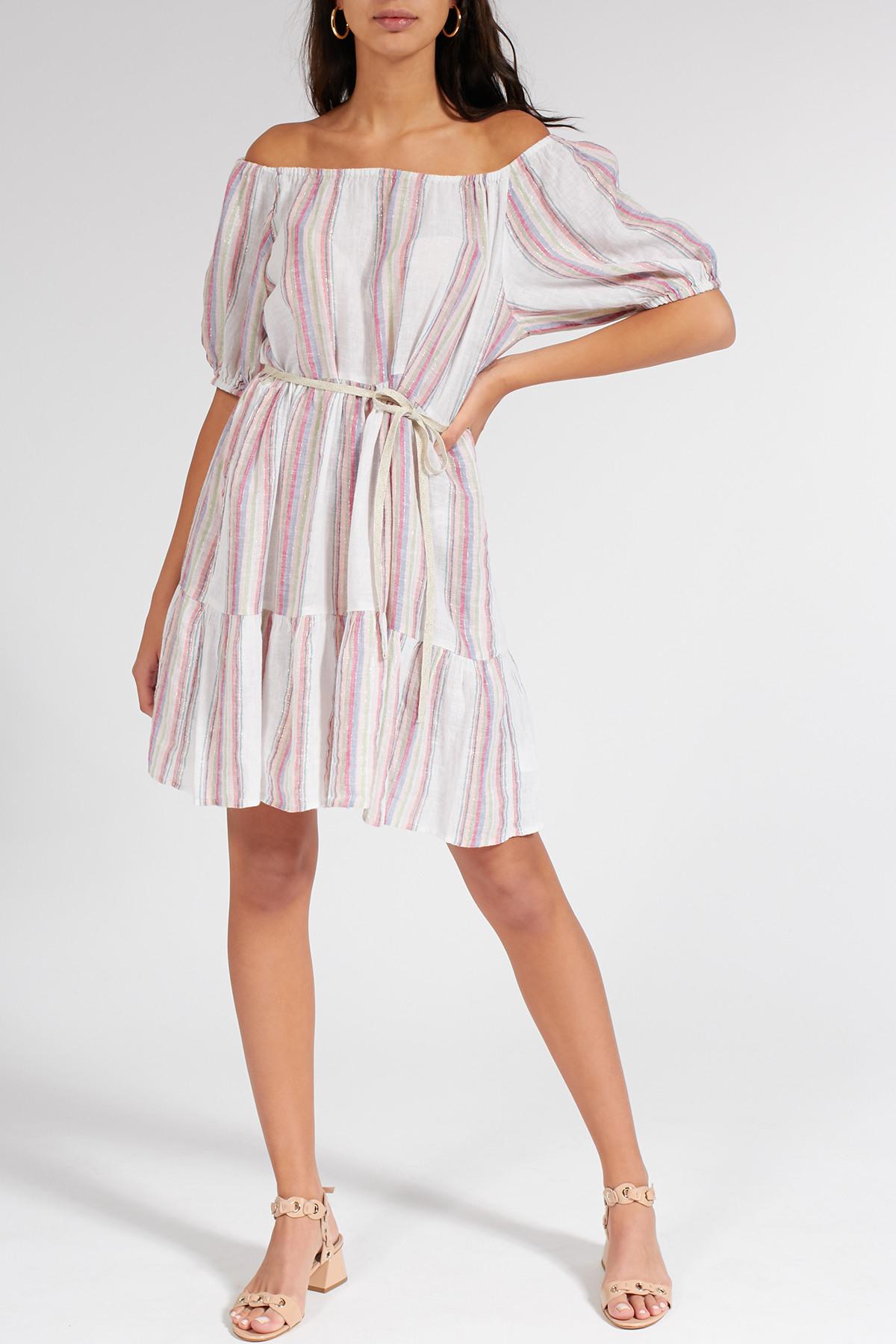 Gestreiftes Kleid Cinthia Mit Lurexdetails  Velvet