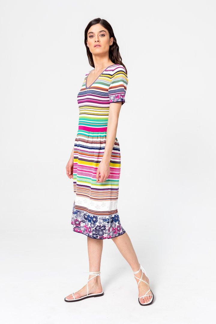 Gestreiftes Kleid  Kleider  Ivko Woman