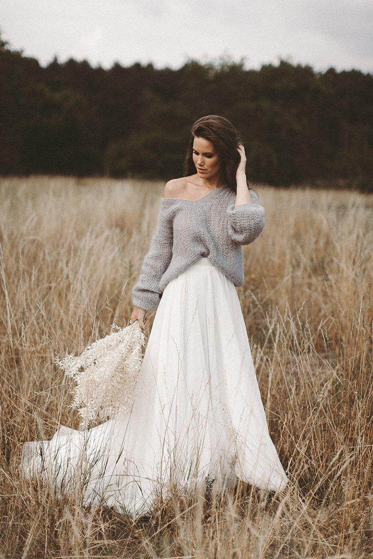Get Cosy Brautpullover  Kleider Hochzeit Brautkleid