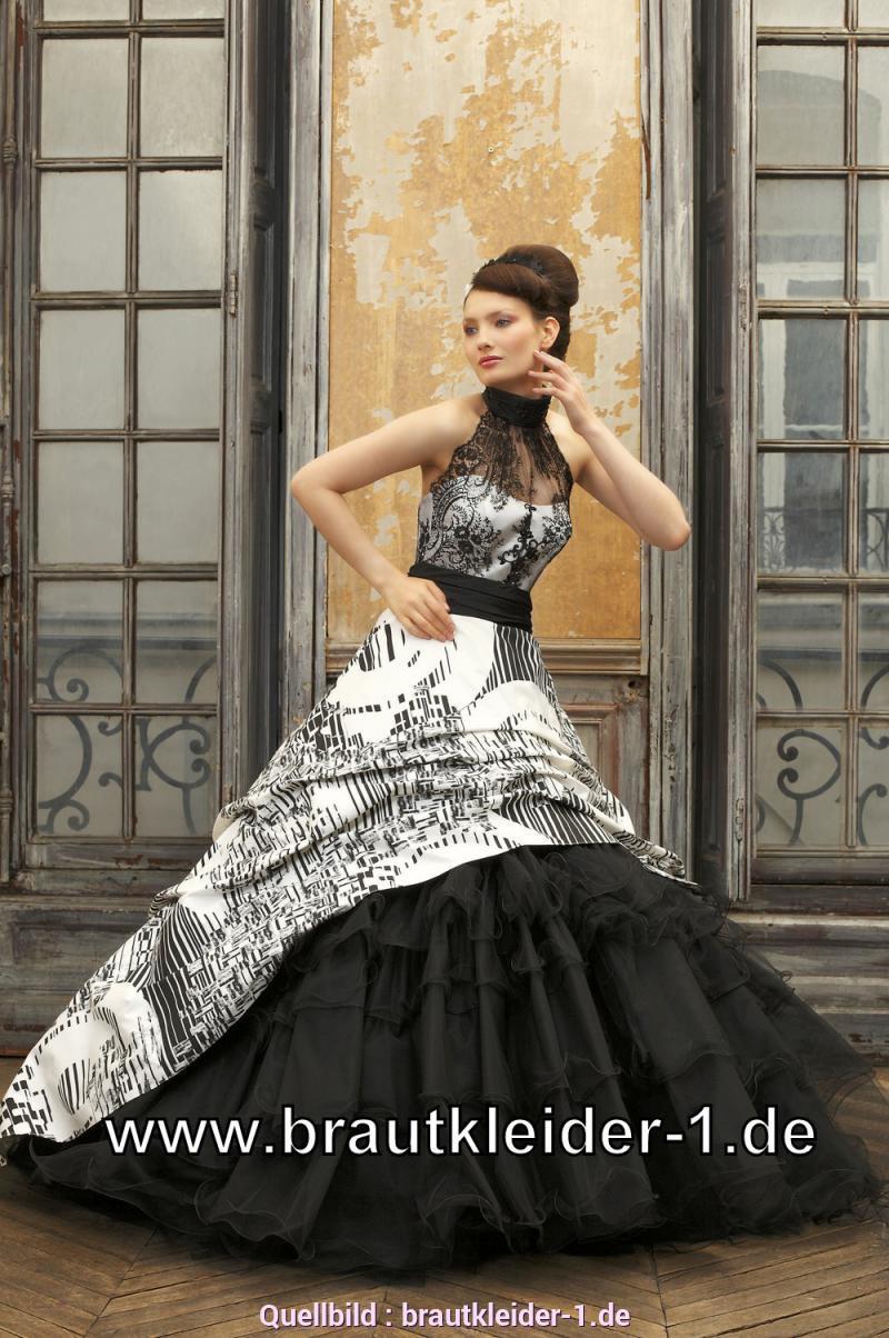 Gewöhnliche Kleid Schwarz Weiß Hochzeit Aleta  Bioinfsurvey