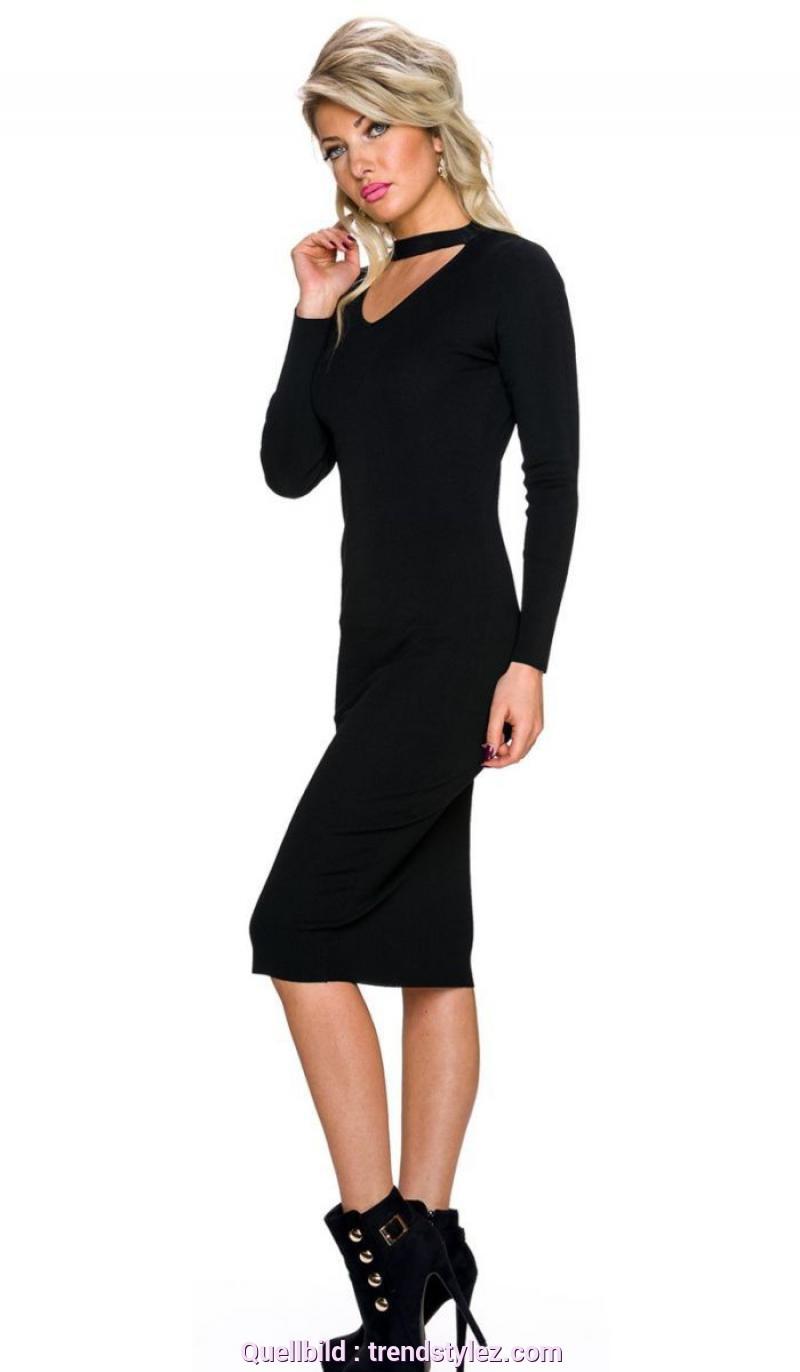Gewöhnliche Schlauchkleid Lang Schwarz Trendstylez  Kleid