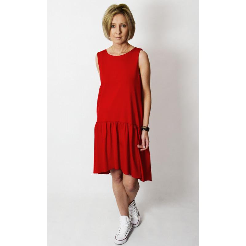 Gina  Minikleid Mit Rüschen  Rot  Sisters Www
