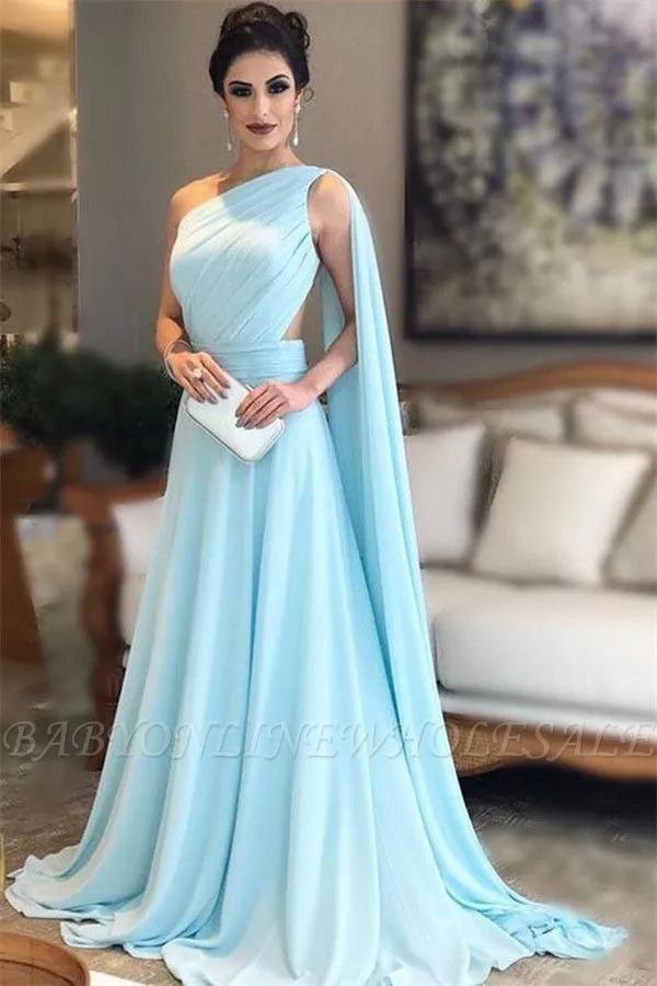 Glamouröse Ärmellose Oneshoulderabendkleider In Alinie
