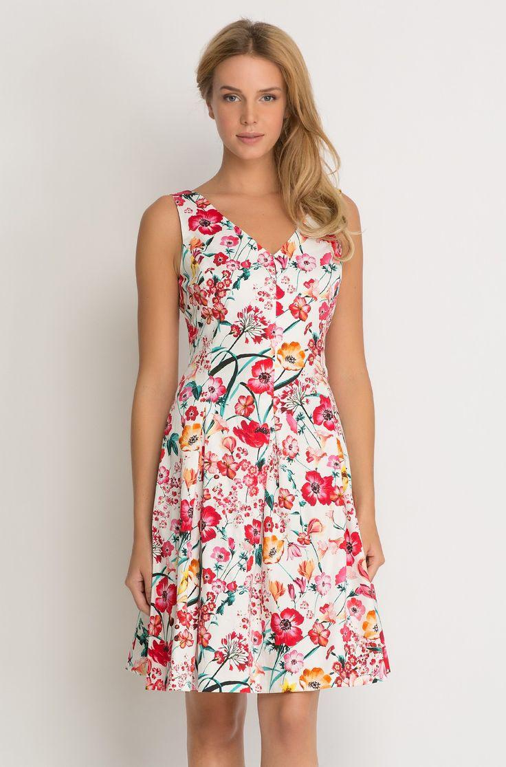 Glockenkleid Mit Blumenprint  Summer Dresses Fashion
