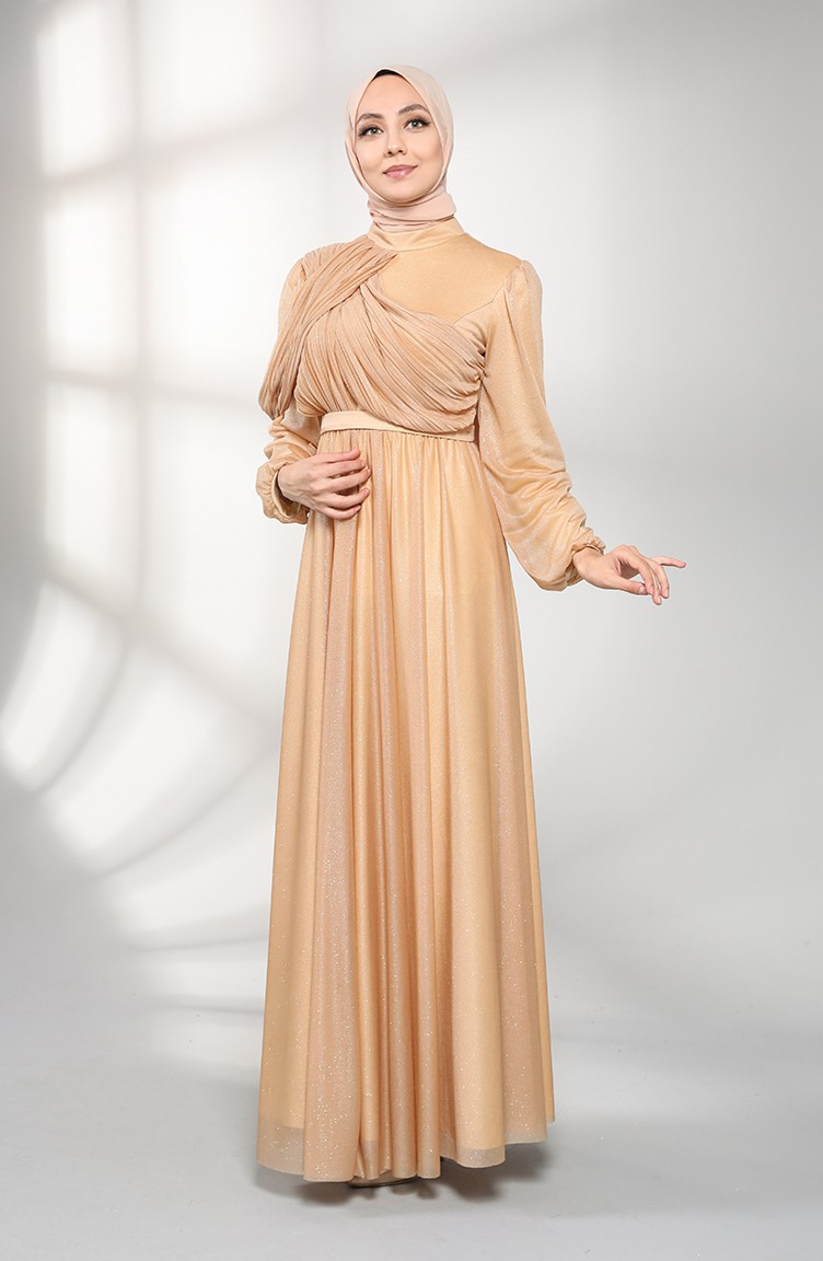 Gold Hijababendkleider 102502  Sefamerve