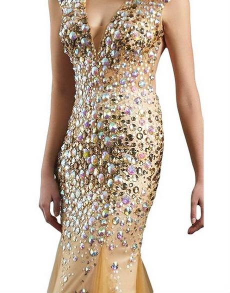 Gold Kleid Pailletten