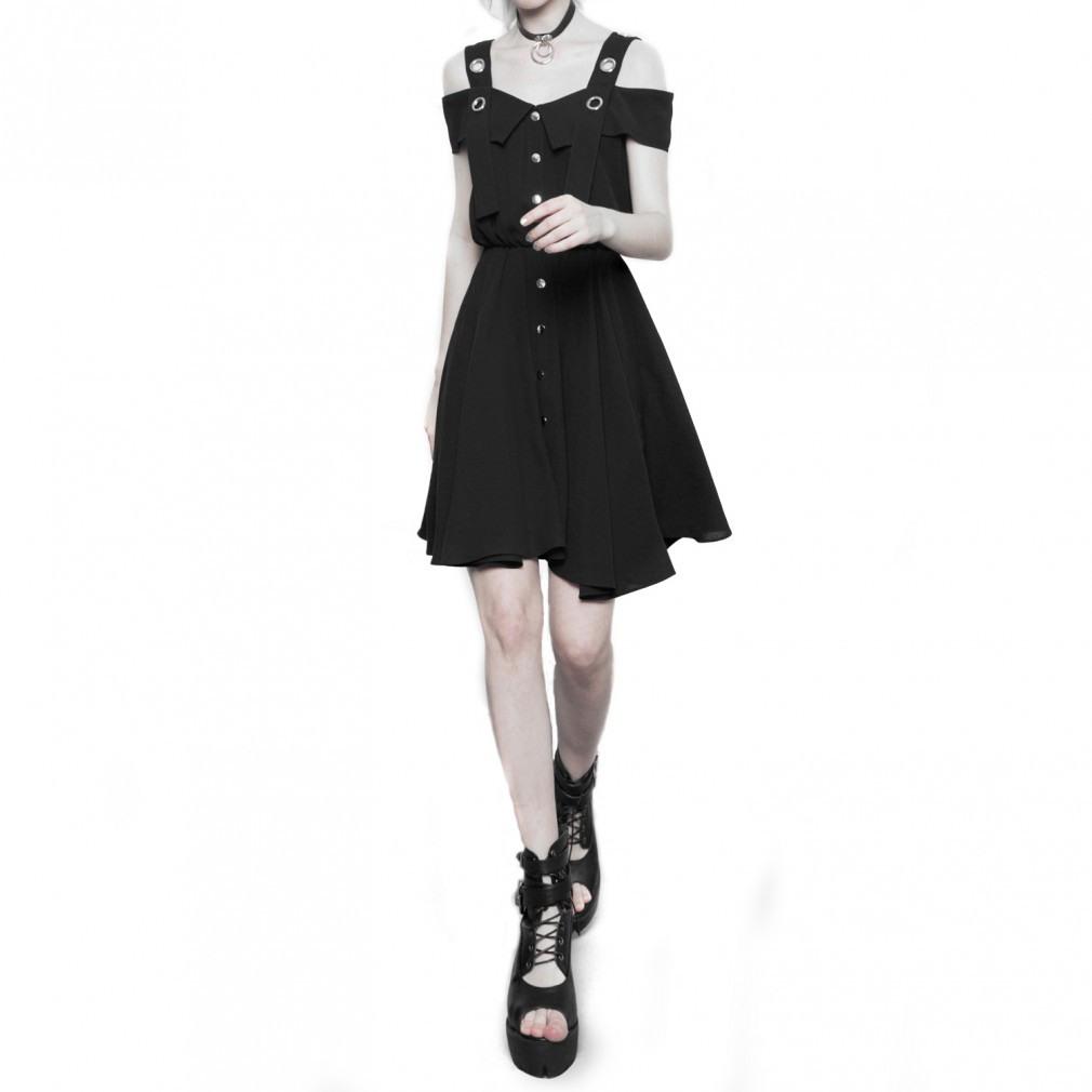 Gothic Kleid Mit Knöpfen