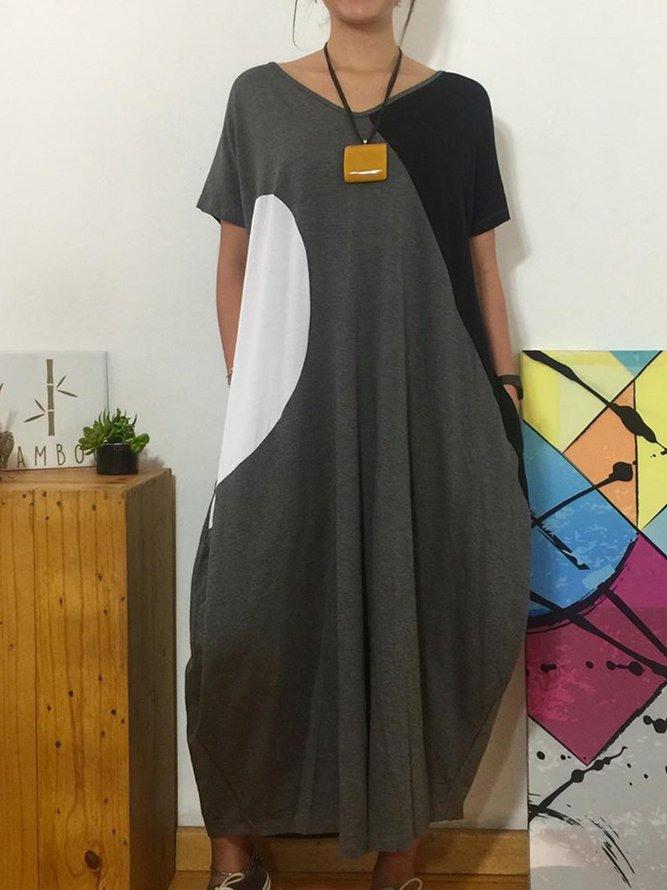 Grau Baumwolle Freizeitkleider  Modetalente