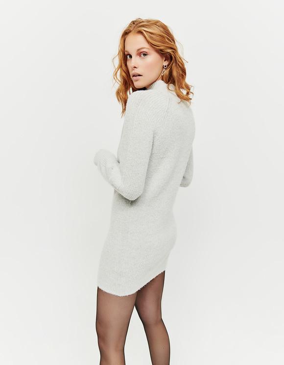 Graues Gestricktes Kleid  Tally Weijl Online Shop