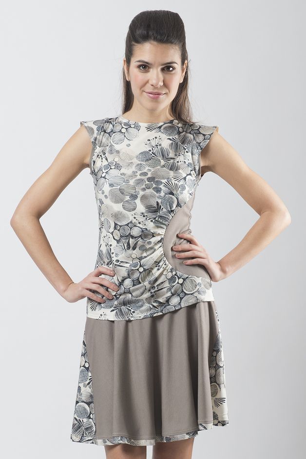 Graues Kleid Mit Muster // Grey Dress With Pattern