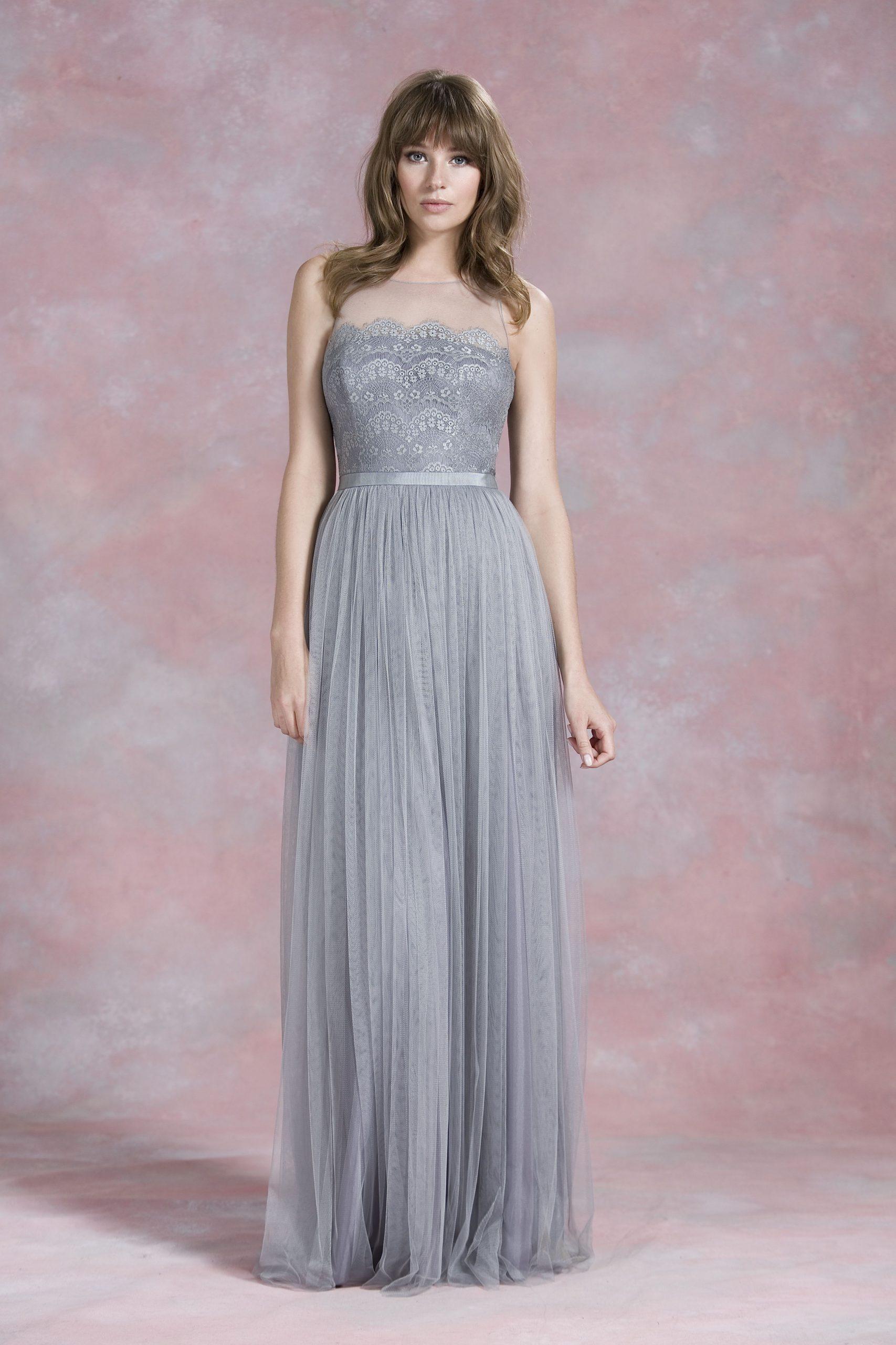 Graues Langes Kleid Für Trauzeugin Oder Brautjungfer  Von