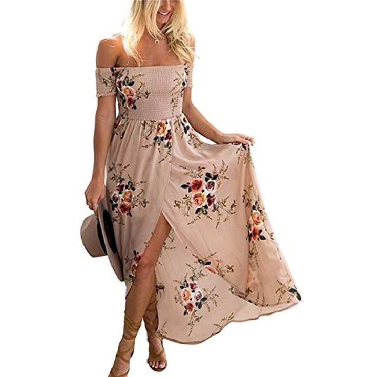 Gremmi Sommerkleider Damen Blumen Maxi Kleid