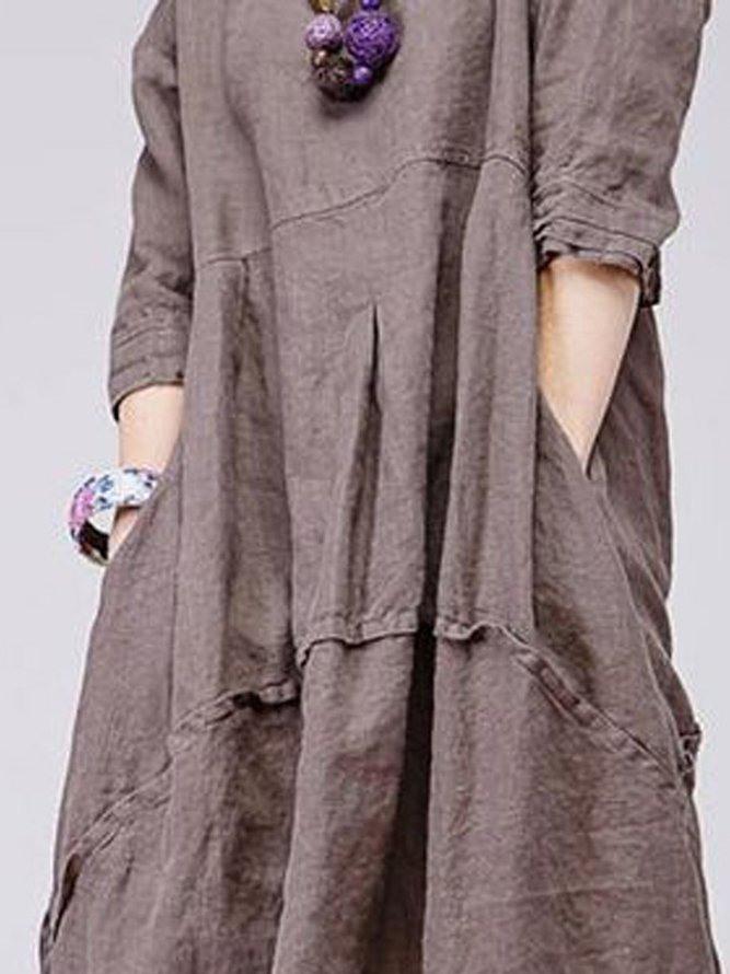 Große Größen Leinen Retro Kleidung Für Damen  Modetalente