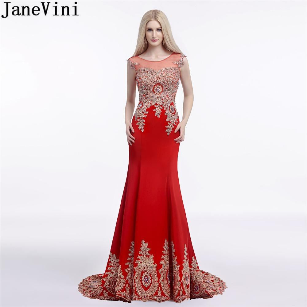 Großhandel Großhandel Elegante Rote Hochzeit Party Kleider