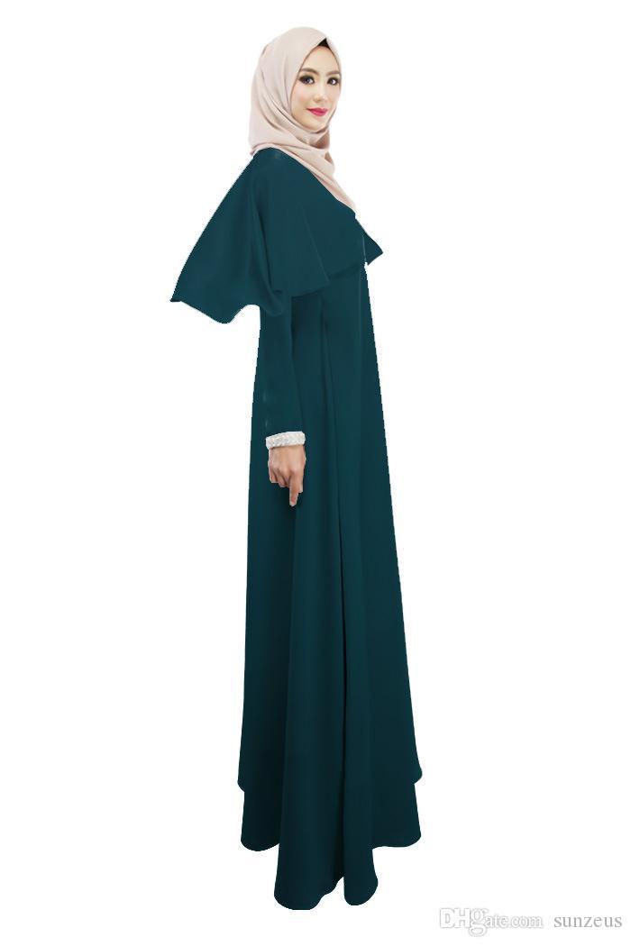 Großhandel Langarm Capes Muslimische Frauen Ethnische