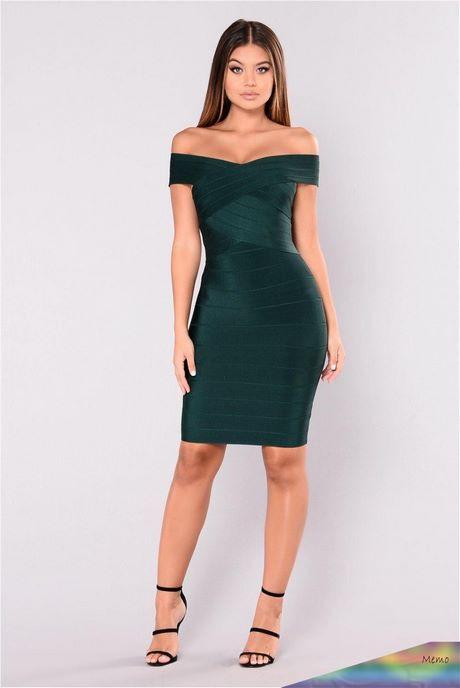 Grünes Enges Kleid