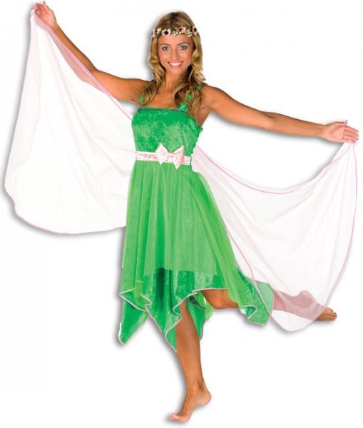 Grünes Waldelfenkleid Feenkleid Mit Umhang  Partyde