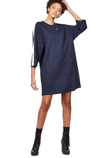 Gstar Raw Nostelle Stripe Crew  Kleid Für Damen  Blau