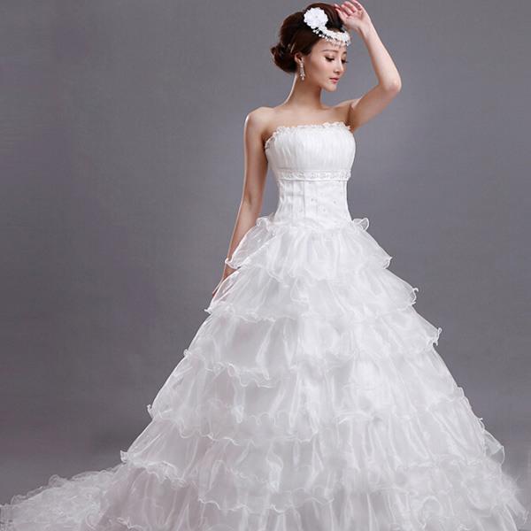 Günstig Kaufen Braut Prinzessin Hochzeit Brautbodenlangen