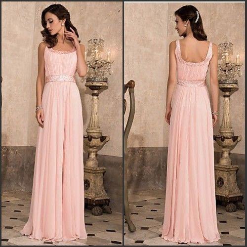 Günstig Rosa Brautjungfernkleider Abendkleider Lang Gr36