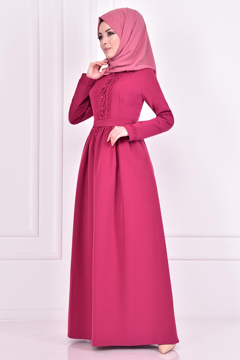 Gupurlu Kleid Fuchsia
