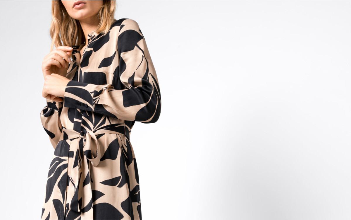 Hallhuber Hemdblusenkleid Mit Maxiblumenprint Für Damen