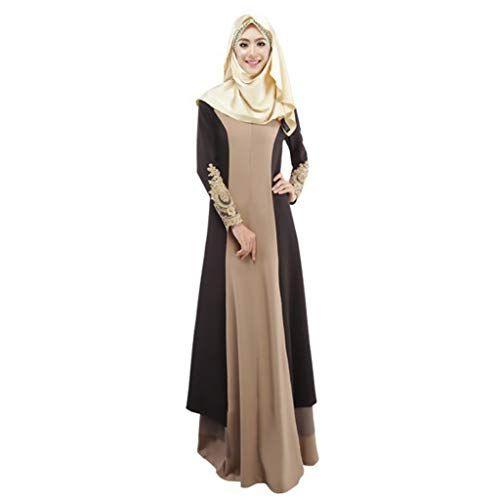 Hanomes 2019 Muslimische Kleider Damen Muslim Kleidung