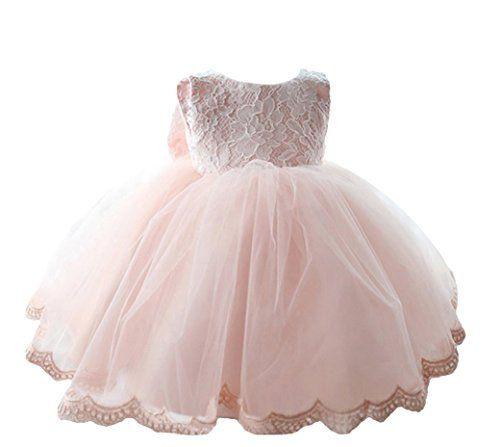 Happy Cherry Baby Mädchen Kleid Dacron Blumenmuster Braut