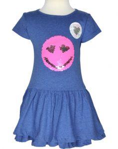 Happy Girls Kurzarmkleid Mit Wendepailetten Smiley Blue