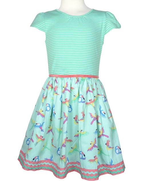 Happy Girls Sommerkleid Kurzarm Papageien Mint 97133671