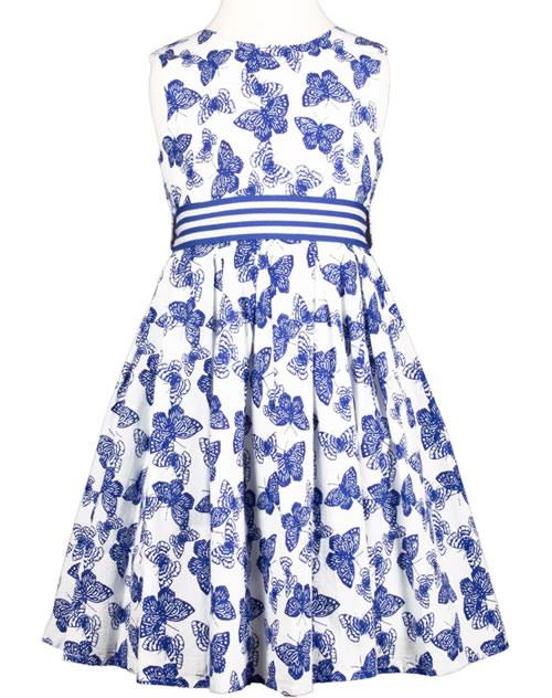 Happy Girls Sommerkleid Schmetterline Navyweiß 97134162