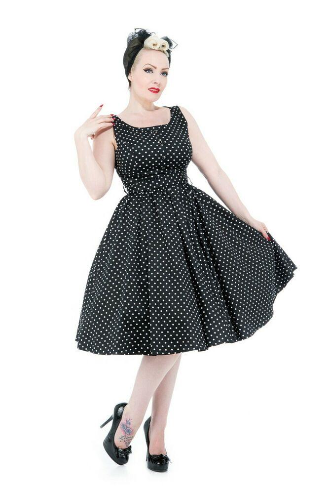 Hearts  Roses 50Er Jahre Pin Up Polka Dots Petticoat