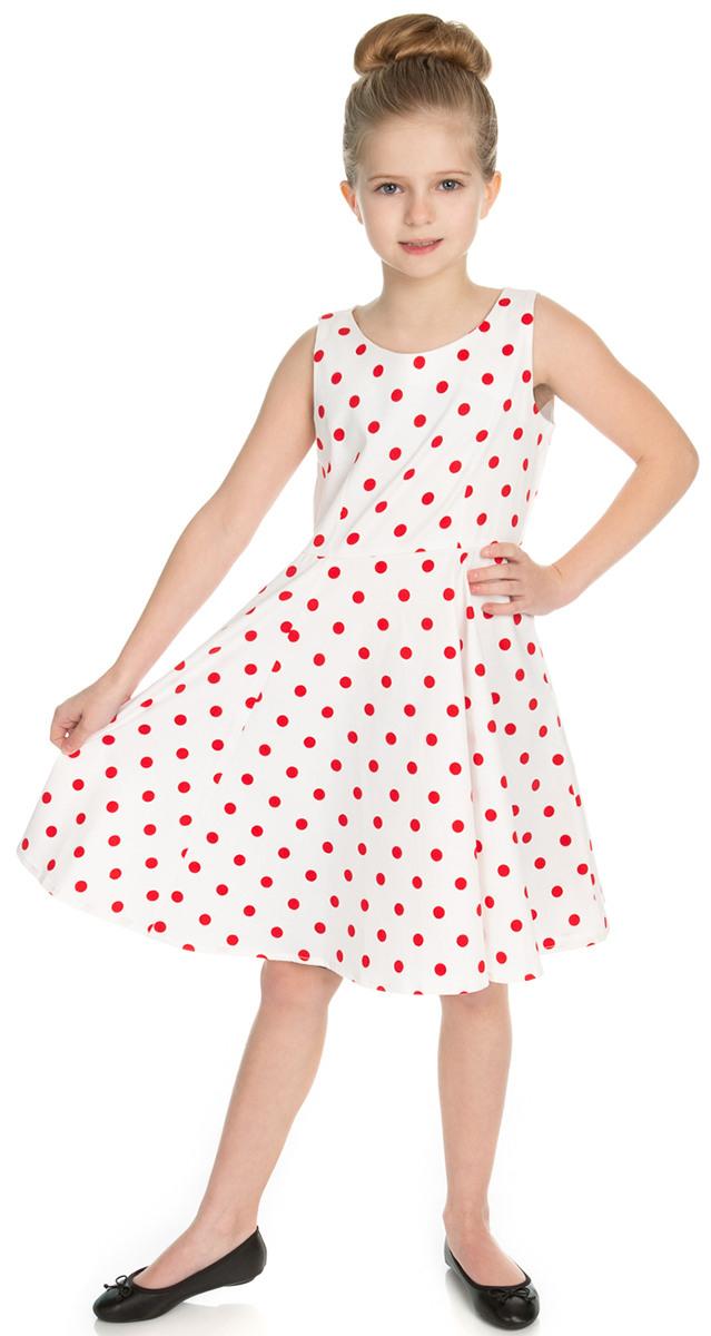 Hearts  Roses Cindy Punkte Polka Dot Träger Swing Kleid