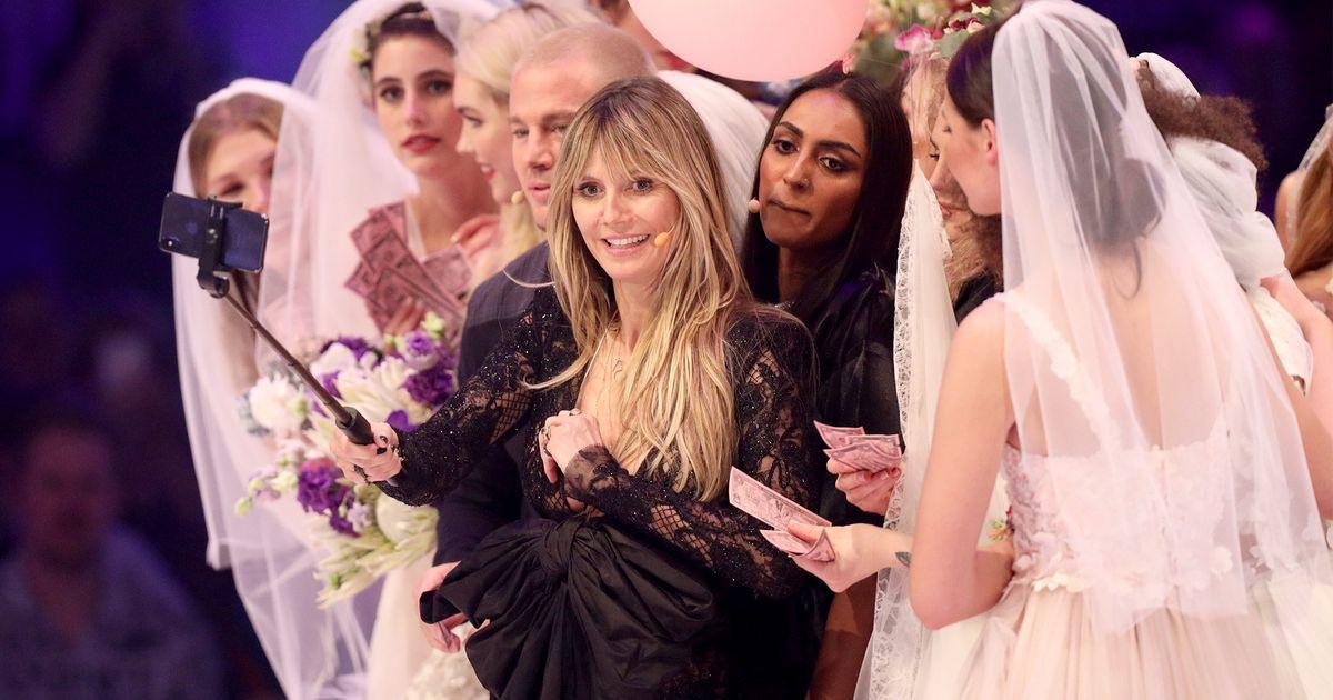 Heidi Klum Dieses Hochzeitskleid Wünscht Sich Tom  Buntede