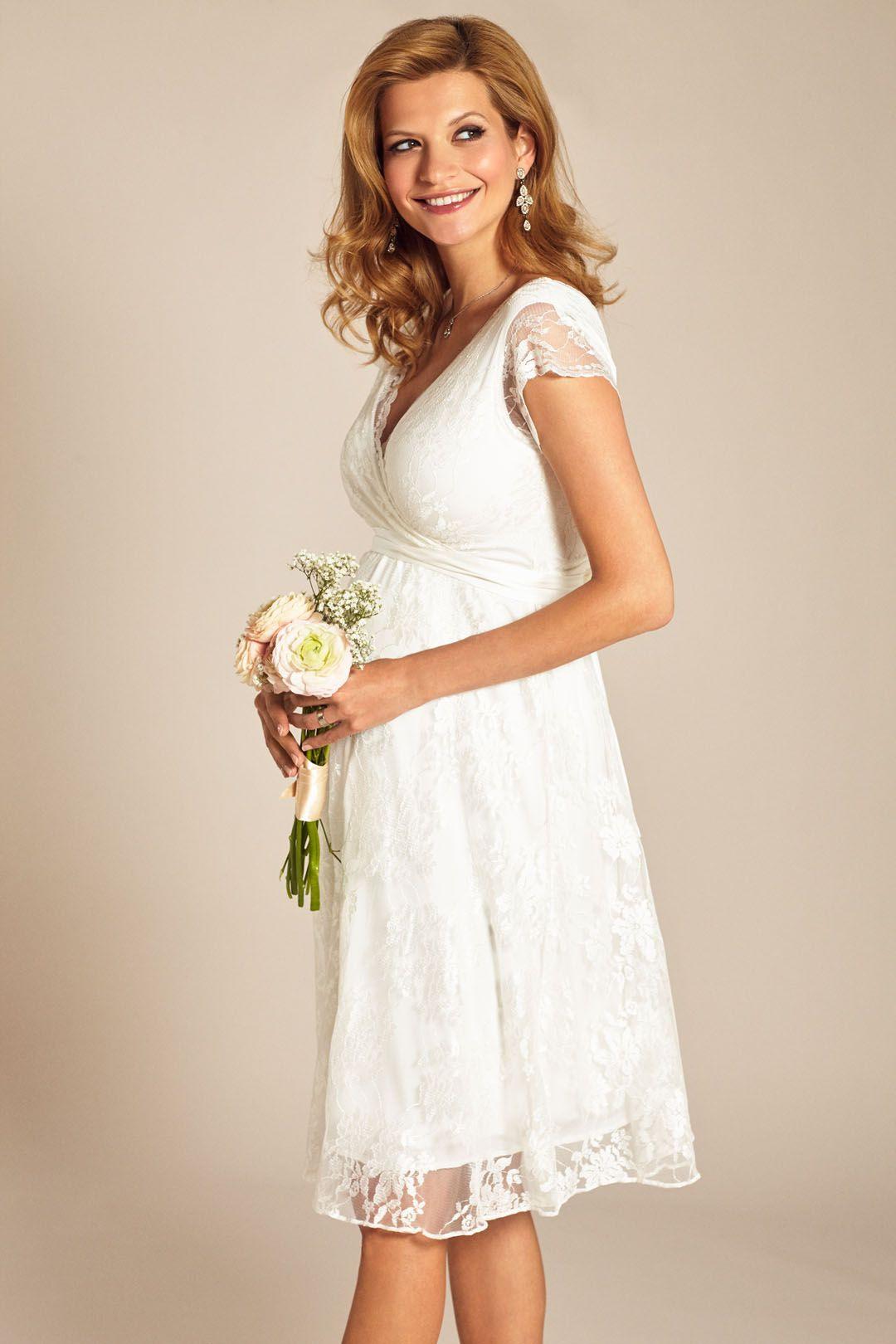 Heiraten Mit Babybauch Im Hochzeitskleid Für Schwangere